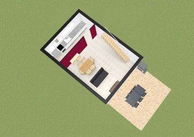 La Pradeto - plan 3D Rez-de-chausée